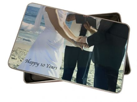 Personalised Tin 10th Wedding Anniversary Gift